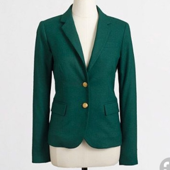 21009808505e J. Crew Factory Dark Green Keating Boy Blazer